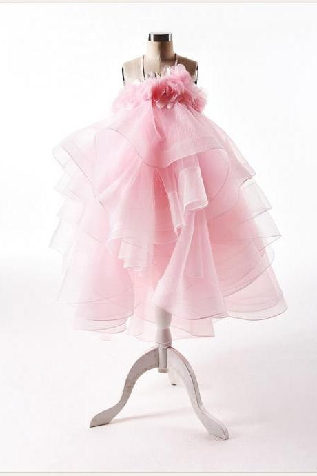 Flower Girl Dress, Light pink Flower Girl Dress, New flower girl dress, Pink flower girl dress, Light Pink Flower girl dress, Children dress, Girl dress, Baby girl party dress, Free Shipping